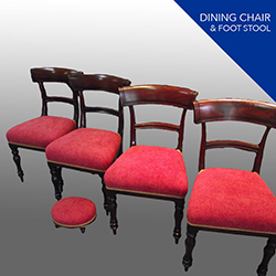 dining chair and foot stool